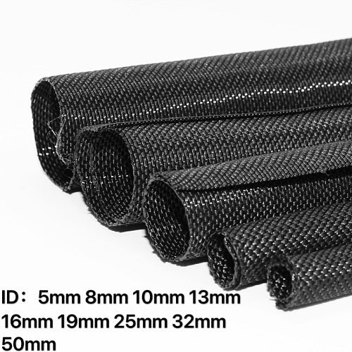 Expandable Braided Cable Sleeve PET Self Closing Insulated Flexible Pipe Hose Wire Wrap Protect cable sock