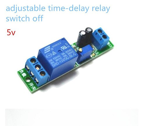 Delay Time Relay Module Timing Switch off Control Cycle Timer DC 5V LED Display Intelligent Control Time Relay/Delay