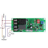 AC100V-220V Adjustable Timer Control Relay Module Turn Off Delay Switch Board For Exhaust Fan