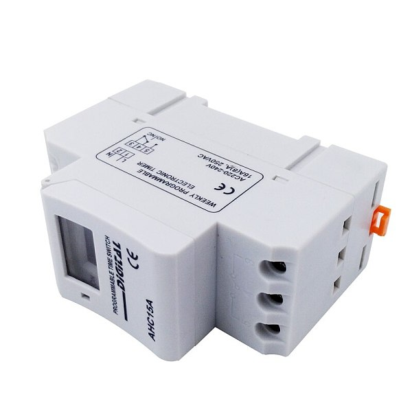 Timer AHC15A AC220V DC12V/24V LED Digital Time Relay Switch Weekly Power Programmable Time Relay Control