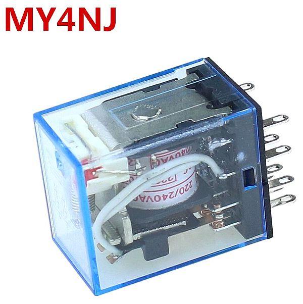 LED MY4 General Purpose Relay 4pdt,14pins relais 12V 24V 110V 220V MY4NJ relay switch