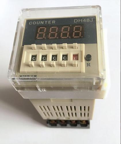 DH48J DH48J-8 Electronic preset counters acyclic display counters 1-999900 relay 8PIN with base DC12V/24V/36V AC110V/220V/380V
