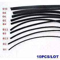 10Meters/lot heat shrink tube 2:1 shrinkable tubing 1mm 2mm 2.5mm 3mm 3.5mm 4mm 5mm 6mm 8mm 10mm Cable Sleeve Wrap Wire kit