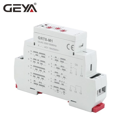 Free Shipping GEYA GRT8-M  Multifunction Time Relay AC220V OR DC12V DC24V DC240V with 10 Functions Timer 16A SPDT
