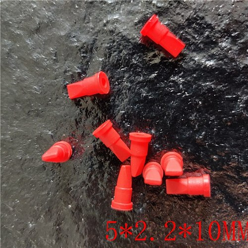 20PCS    Mini red silicone duckbill valve one-way check valve   5*2.2*10MM