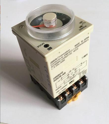 24-220VAC/DC H3CR-A8 time relay 1.2s to 300h 50/60Hz 8PIN with base Power on and off cycle delay time relay