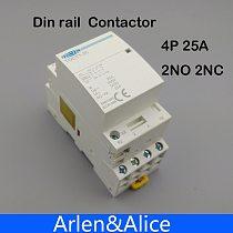 TOCT1 4P 25A 2NC 2NO 220V/230V 50/60HZ Din rail Household ac Modular contactor