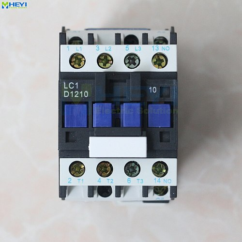 LC1-D1210 Single Phase Contactor Electrical Supply Power 220V 12A 50Hz for AC Motor 690V insulate class