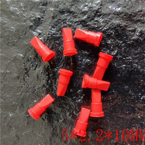 100PCS    Mini red silicone duckbill valve one-way check valve   5*2.2*10MM
