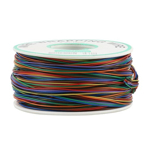 Free shipping Newest 8 color Wrapping Wire 200 Meters AWG30 Cable ok wire jumper wire