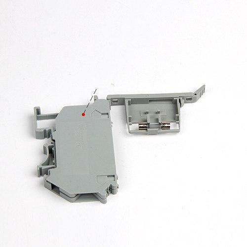 50PCS UK5-HESI UK5RD 4mm2 DIN Rail Screw Clamp Fuse Holder Base Terminal Blocks Connector UK Fuse Accessories
