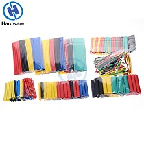 127/140/280/328Pcs Assorted Polyolefin Heat Shrink Tubing Tube Cable Sleeves Wrap Wire Set 8 Size Multicolor/Black