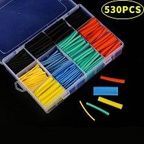 164pcs/328pcs/127pcs/530pcs Set Polyolefin Shrinking Assorted Heat Shrink Tube Wire Cable Insulated Sleeving Tubing Set 2:1