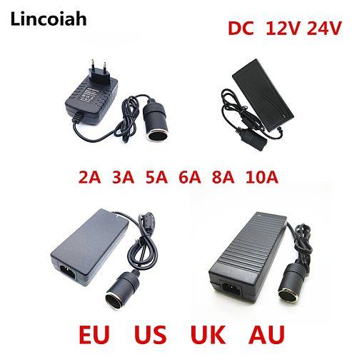 AC 100V-240V 100V 220V to DC 12V Car Cigarette Lighter AC/ DC Power Converter Adapter Inverter Power Supply Transformer 12 Volt