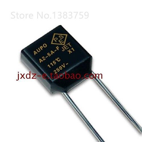 20pcs AUPO Square Thermal Fuse A2-5A-F 115 degrees 5A 250V RH115