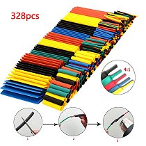 JZL 127-328PCS PVC heat shrinkable tube Set heat shrink tubing tube 4:1 Repair cable color Wire insulation sleeve Dropshipping