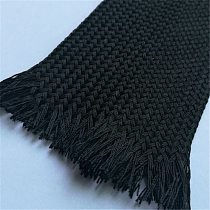2M 2/4/6/8/10/12/14/16/18mm soft cotton Nylon Braided Wire Cable sleeve Nylon Braided High Density wire protection BLACK