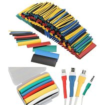 Heat Shrink Tube Cable Sleeves Wrap Wire Set Flame retardant heat-shrink tubing 127/164/328/530/1060pcs