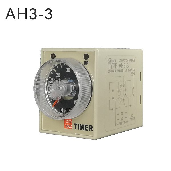 2019 most ideal 24-240V ac / dc universal AH3-3 time relay new feature timer relay time set range 0.1S-60m off delay timer relay