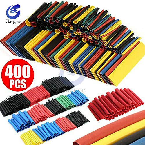 400PCS/Lot Polyolefin Heat Shrink Tube Set 3.5mm / 8 Sizes 1-14mm 2:1 Heat Shrink Tubing Insulation Shrinkable Tube Wire Cable