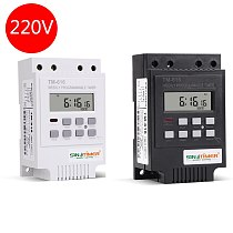 SINOTIMER 30AMP Control Load 7 Days Programmable Digital TIME SWITCH Relay Timer Control 220V Din Rail Mount, FREE SHIPPING