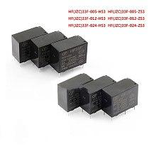 5pcs Jzc-33f 005 012024-hs3 zs3 relay 5v12v224v 4-pin 5-pin 5A hf33f