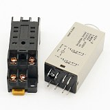 1pcs H3Y-2 AC 220V Delay Timer Time Relay 0 - 30 Minute/Seconds with Base Free Shipping