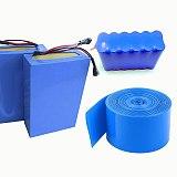 2M PVC Heat shrink tube 18-350mm blue shrink wrapping heat shrinkable tube 18650 battery insulation Heat shrinkage Cable Sleeve