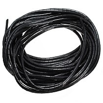 10 meters Spiral Tube Flexible Cord PC Home Cinema Cable Wire Organizer Wrap Management black White Blue