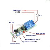 12V DC Infinite Cycle Delay Timing Timer Relay ON OFF Switch Loop Module Trigger M14 dropshipping L29K