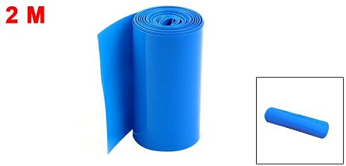 Uxcell 2Meters 85mm Width PVC Heat Shrink Wrap Tube Blue For 18650 Battery Pack 7 Colors For Various Electric Insulation Connect