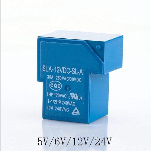 1pc Power relays SLA-05VDC-SL-A  SLA-06VDC-SL-A  SLA-12VDC-SL-A SLA-24VDC-SL-A 5V 6V 12V 24V 30A 4PIN T90