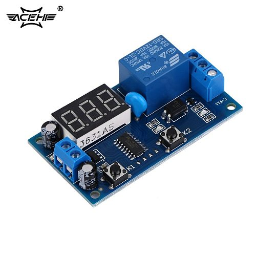 ACEHE Electrical DC 12V Time Relay Module Digital Display Trigger Cycle Time Delay Relay Module Board YYA-3 Hot