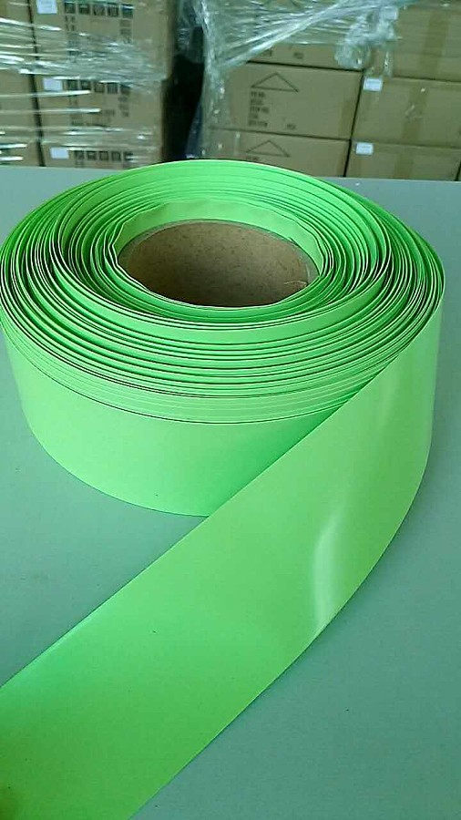 Electronic PVC Heat Shrink Tubing For Lipo Battery Films Insulation Materials Light Green 40/55/63/86/95/125mm Wide