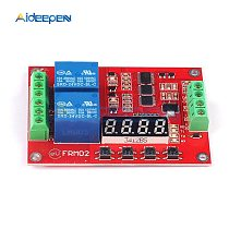 DC 5V 12V 24V 2 Channel Multi Function Relay Module Time Delay Relay Self Lock Cycle Timing Relay Module Timer Control Switch