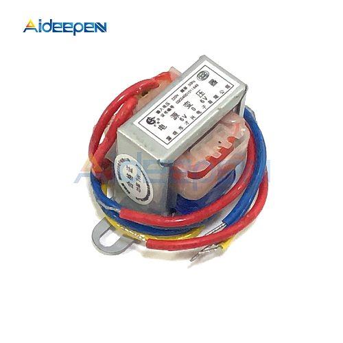 Power Transformer AC 220V to 6V 9V 12V Voltage 1W EI Copper Core 50Hz~60Hz Single Voltage 2 Line Copper
