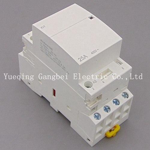 iCT 4P 25A 4NO  220V/230V 50/60HZ Din rail Household ac contactor