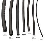 7PCS Retractable Heat Shrink Set 1/2/2.5/3/4/5/6mm Cable Sleeve Heat Shrink Tubing Tube Wrapped Braided Sleeving Cables