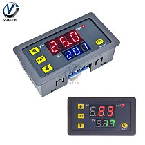 DC 12V 24V AC 110V 220V Digital Cycle Timer Delay Relay Module LED Dual Adjustable Timing Display Timing Relay Control Switch