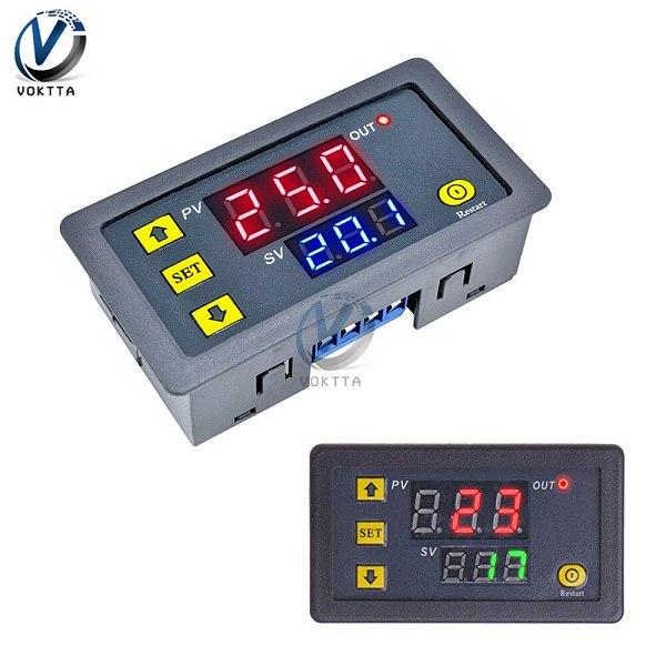 DC 12V 24V AC 110V 220V Digital Cycle Timer Delay Relay Module LED Dual Adjustable Timing Display Timing Relay Control Switch