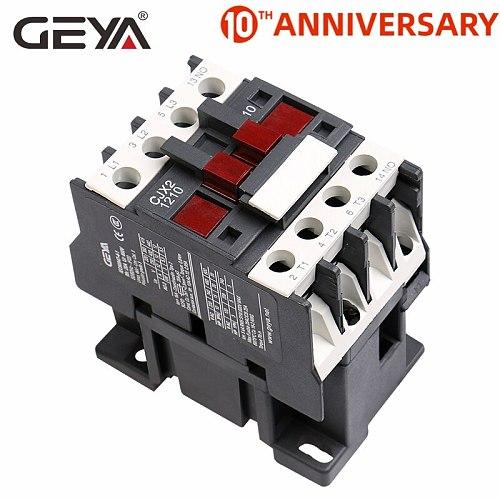 GEYA CJX2-1210 Din Rail Telemecanique AC Contactors 220V Magnetic Contactor 380V AC LC1D12A Types of Contactor