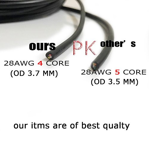 30meters UL2464 28 AWG 2 3 4 5 core cable for USB Mouse Keyboard data DIY PVC cable Soft power cable Control Wine Free shipping