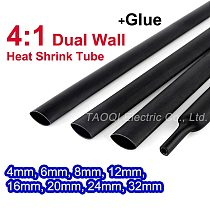 Heat Shrink Tube with Glue Adhesive Lined 4:1 Dual Wall Tubing Sleeve Wrap Wire Cable kit 4mm 6mm 8mm 12mm 16mm 20mm 24mm 32mm