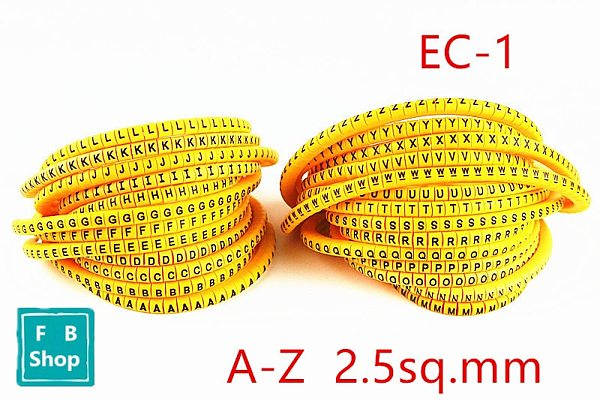 650pcs/lot(Each 25pcs) cable marker EC-1 2.5sq.mm A-Z ABCDEFGHIJKLMNOPQRSTUVWXYZ 26 different letter  mark cable