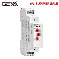 GEYA Multifunction Timer Relay 12V 24V 220V-Adjustable 10 functions & 10 time ranges with CE CB Certificate