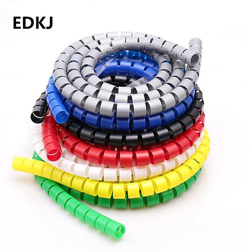 8/10/15/20/25mm 1m Line Organizer Pipe Protection Spiral Wrap Winding Cable Wire Protector Cover Tube(without  wire-finder)