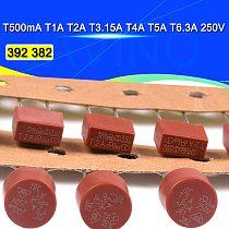 10PCS Round Fuse Slow Blow 500mA 1A 2A 2.5A 3.15A 4A 5A 6.3A 8A 10A 250V 382 Plastic  LCD TV  392 Square