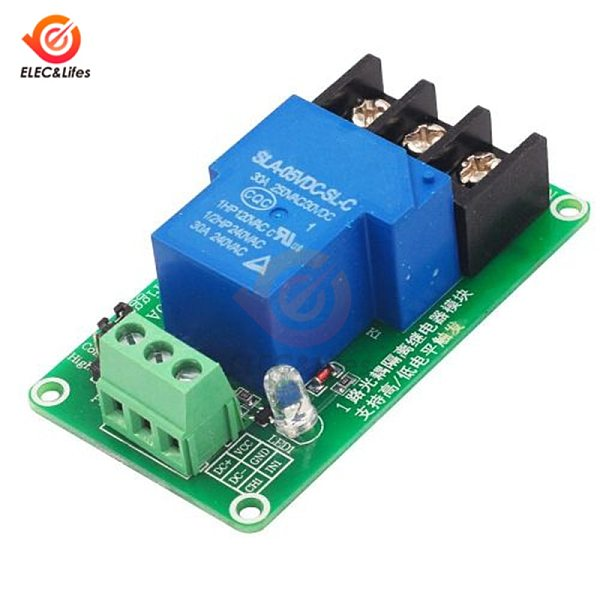 DC 5V 12V 24V 1 Channel Relay Module 30A with optocoupler isolation high and low level trigger relay module