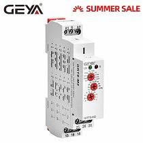 GEYA GRT8-M Multi-Function Din Rail Automatic Timer Relay AC DC 12V 24V 220V SPDT DPDT Multifunction Time Relay