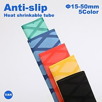 Anti-slip heat shrink tube for fishing rod DIY electrical insulation 5 colors 1M 15/18/20/22/25/28/30/35/40/50mm
